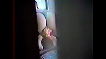 stagging my mother milking thru window of court yard