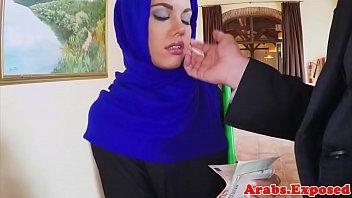 arabian muslim penetrated in hijab before.
