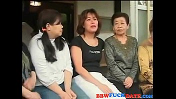Asian group of friends fucking Japanese fat wives