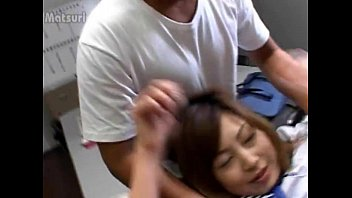 Hardcore asian pussy vibrating in office