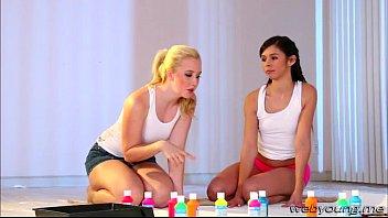 supah-cute ladies samantha and taylor goes girly-girl scissor lovemaking