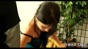 sweltering woman gets slimed at gloryhole massaging her cooter