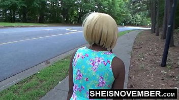 Risky Middle Of Street Blowjob &amp_ Big Ass Ebony Booty Out For Stranger Msnovember