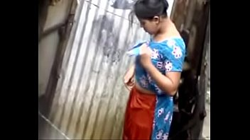 desi damsel bathing