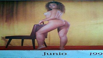 monica cabrejos en calendario erotico
