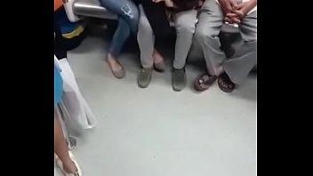 SUCKING IN METRO IN DELHI