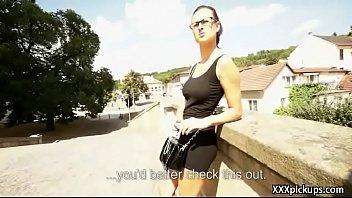 Public Pickups - Teen Amateur Euro Babe Seduces Tourist For Blowjob 13