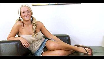 busty fairhair girl with big dildo