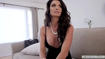 Step mom Sylvia Saige bend over and flirting with horny step son.