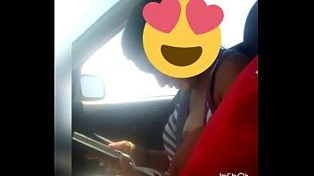 en el carro con mi sobrina
