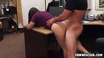 clever school dark-haired gets leaned over and rammed.