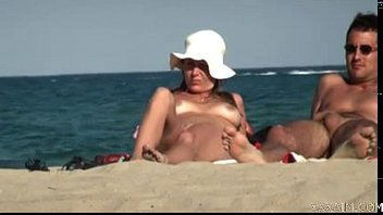youthful at cap d agde nude beach free-for-all.