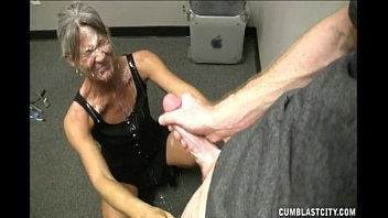 grand mommy helping youthful dude to.