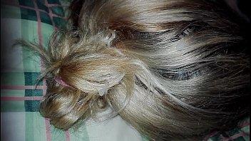 cum sleeping sister hair