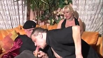german ash-blonde inexperienced 3some