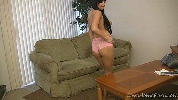 Busty webcam girl dancing in her panties