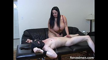 domme strangles victim with her hefty cupcakes and.