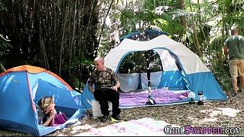 camping teenie stepdaughter
