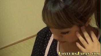 japanese nubile fondles box