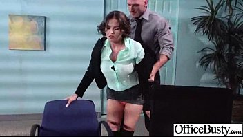 lovemaking gauze in office with mega-slut giant juggs.