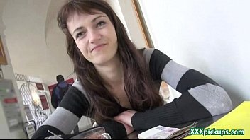 public pickup czech woman drills fo currency in.