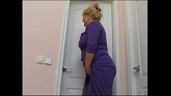 obese mother with saggy knockers and.