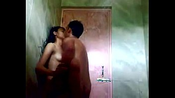 indian teenager in bathroom with her boyfriend free-for-all.