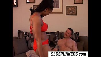 Sexy black MILF Semmie loves fucking younger white guys