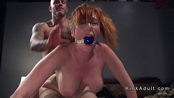 ball-gagged thick baps sandy-haired assfuck porked