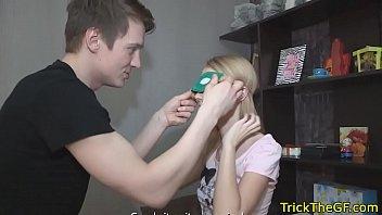 russian gf cuckolds her perv bf