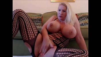 blond cougar displaying her labia