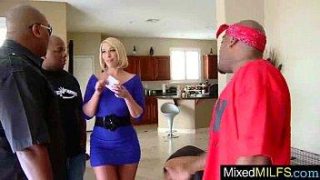 Naughty Superb Milf (mellanie monroe) In Sex Act On Black Huge Dick video-16