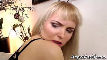 Ass gaping babe anally screwed