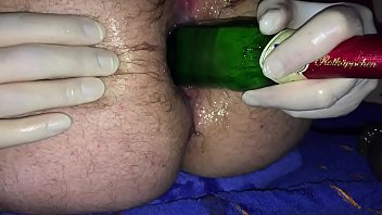 assfuck butt-plug and bottle pulverizing my.
