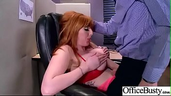 lovemaking in office with sluty thick juggs doll.