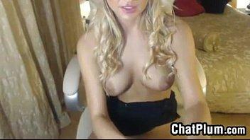 Blonde Babe Wearing Black Stockings