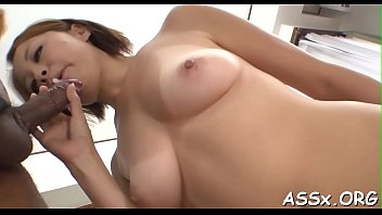 Erotic asian pussy shaving and anal job