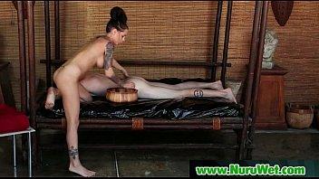 Nuru Massage Sex And Nasty Slippery Blowjob Movie 08