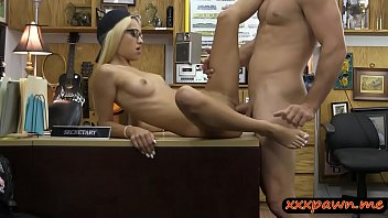 Tight blonde babe pounded by pawn dude