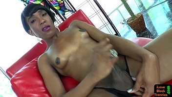 smalltits ebony transgender princess taunts her.