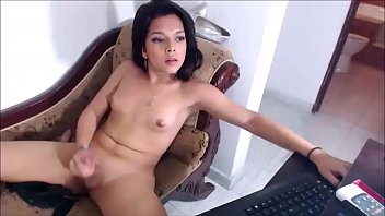 Shemale Angel Amazing Solo &amp_ Cumshot