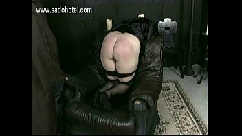Nun slave with her panties down is spanked on her ass and begs forgiveness by her priest