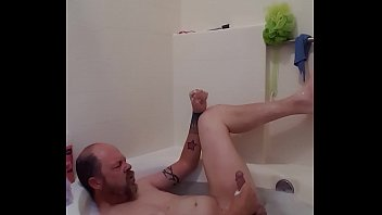 bath strokin with jism blasts