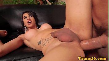 Latina tranny ass pounded closeup