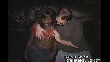 ebony female wit braces gets group.