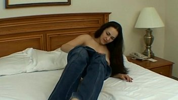 sweetheart youthful dark-haired getting off