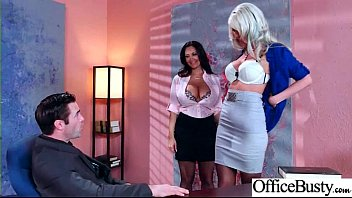 fuck-fest sequence in office with tart crimson-hot large-titted.