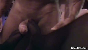 German Amateur Teen Give the Perfect Footjob in Stockings