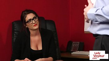 office bombshell instructing draining marionette