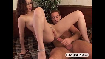 Two horny brunettes having a threesome with a big cock GB-3-03